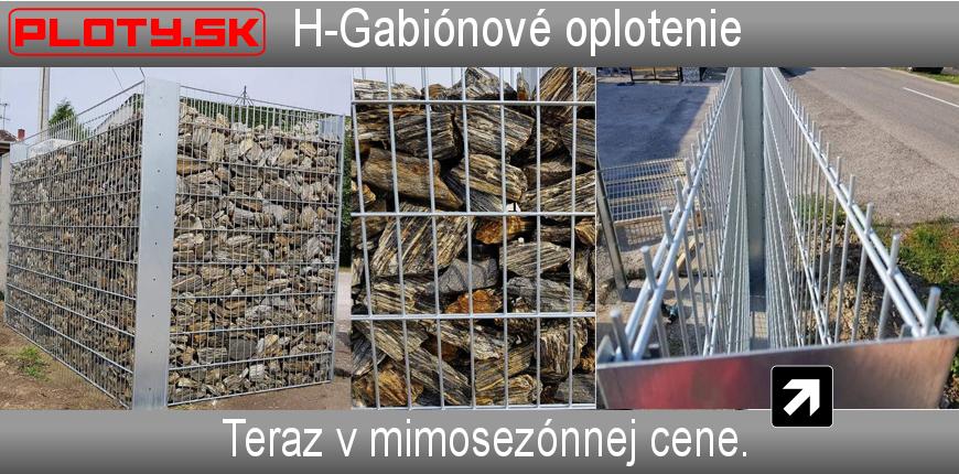 Sypané ploty H-gabión